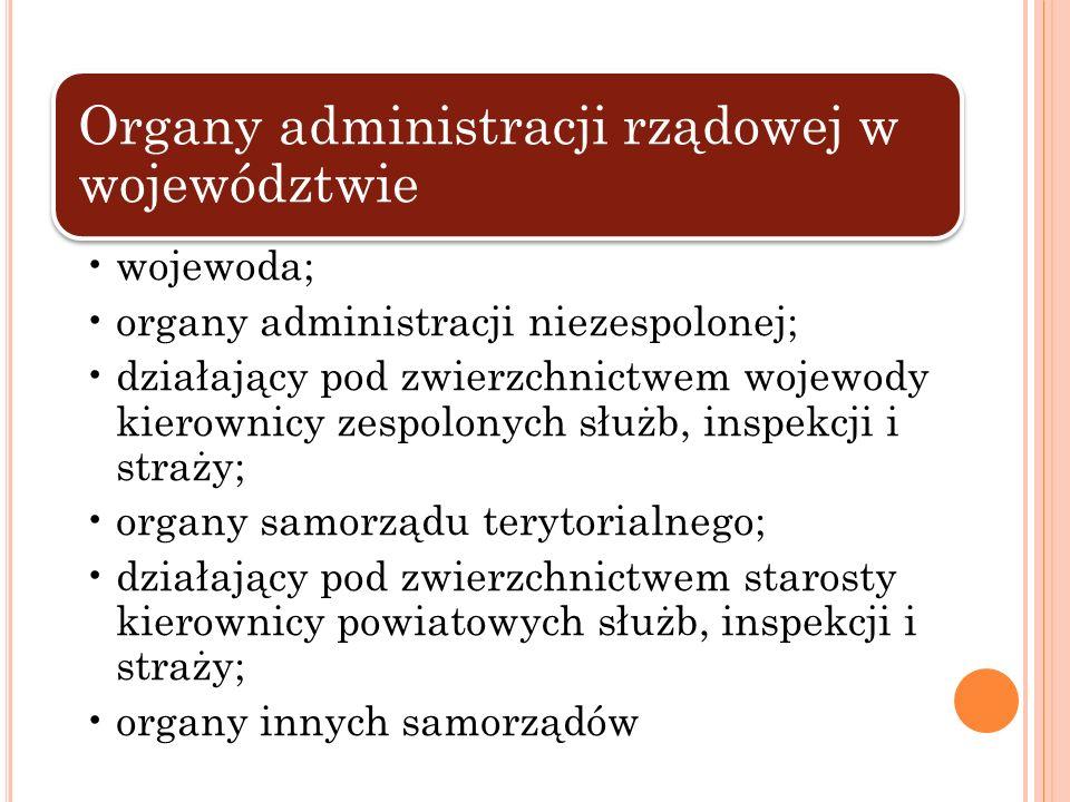 Organy administracji rządowej w województwie