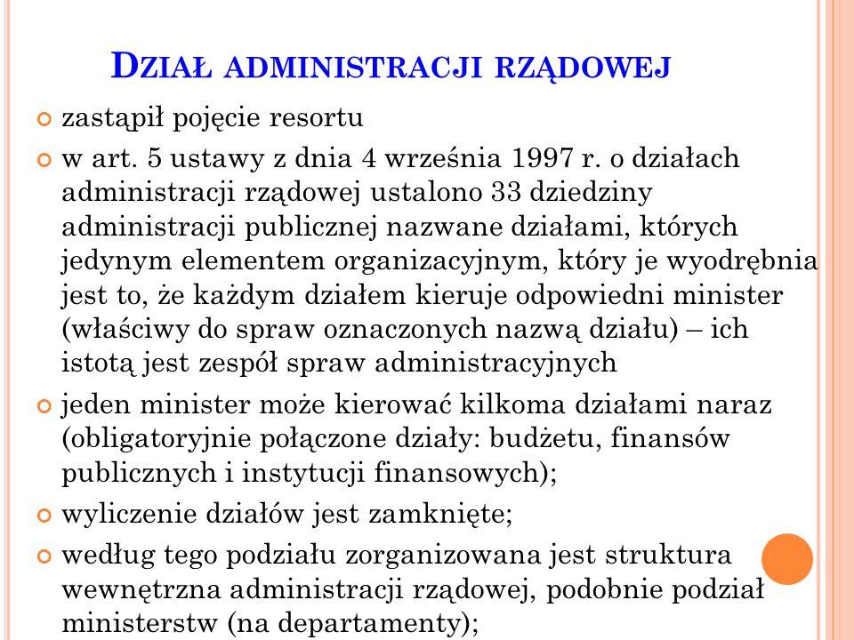 Dział administracji rządowej