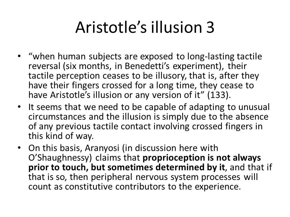 Aristotle's illusion 3