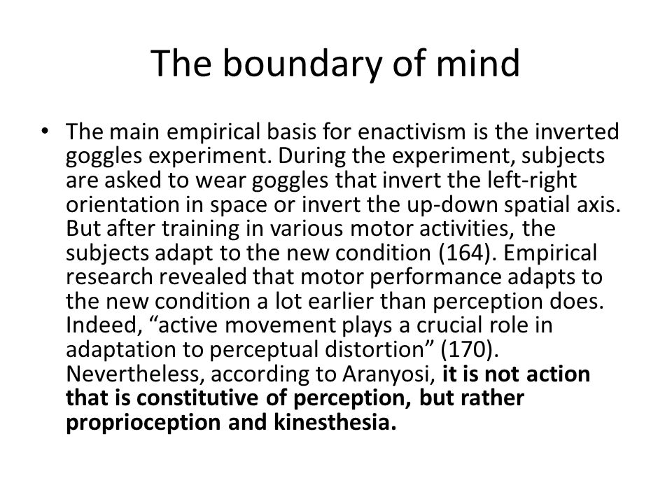 The boundary of mind