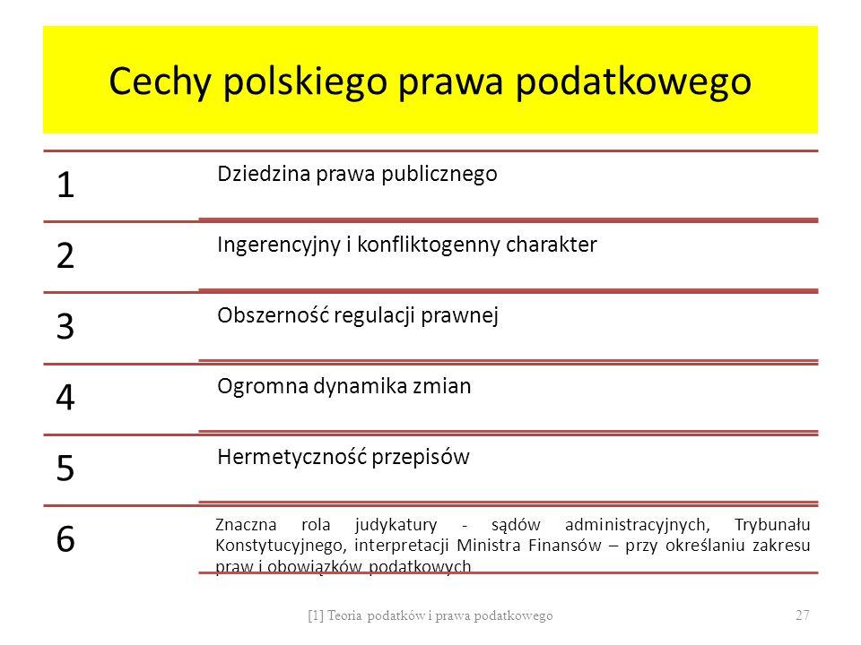 Cechy polskiego prawa podatkowego