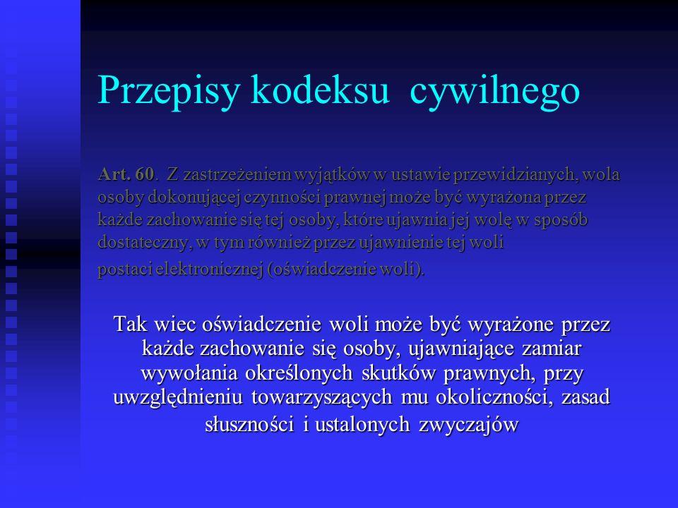 Przepisy kodeksu cywilnego