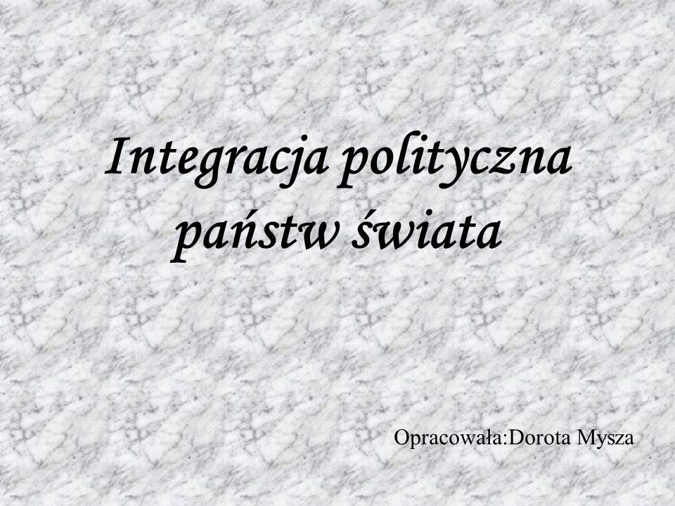 Integracja polityczna państw świata