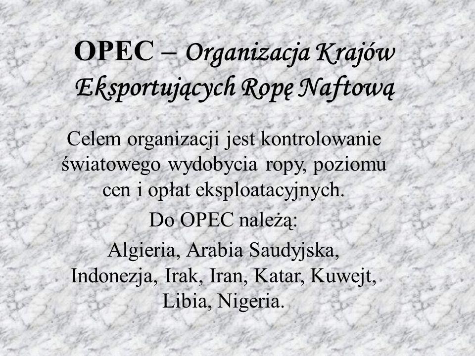 OPEC – Organizacja Krajów Eksportujących Ropę Naftową