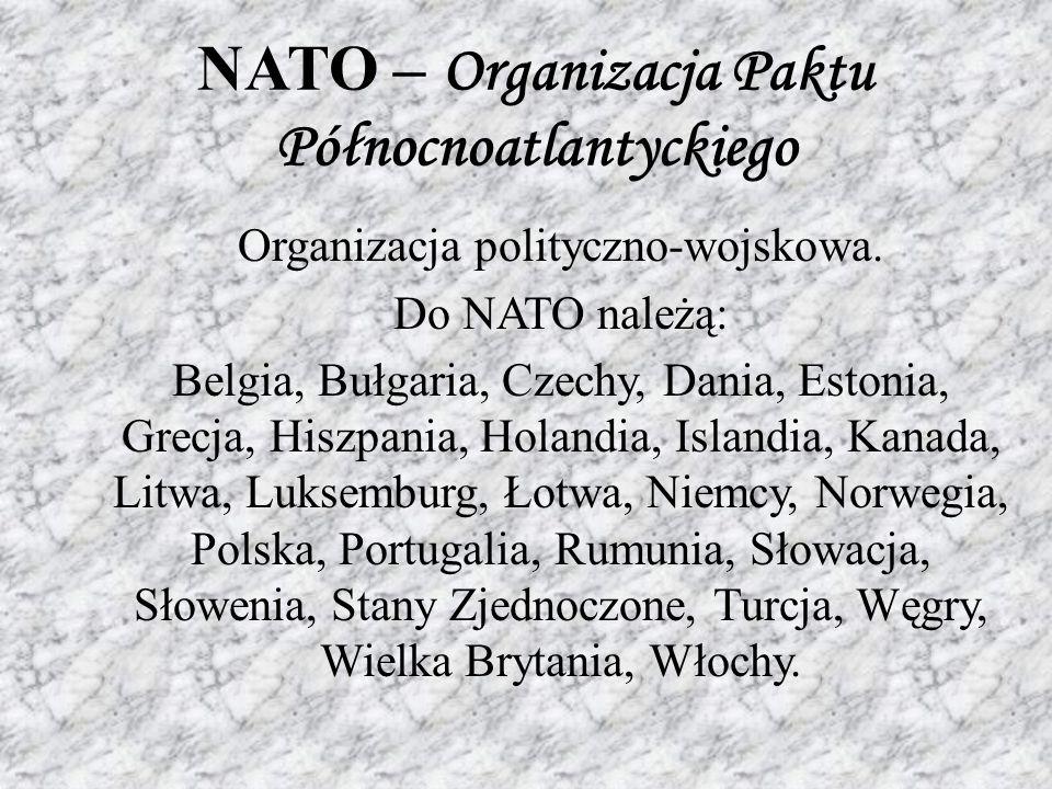 NATO – Organizacja Paktu Północnoatlantyckiego