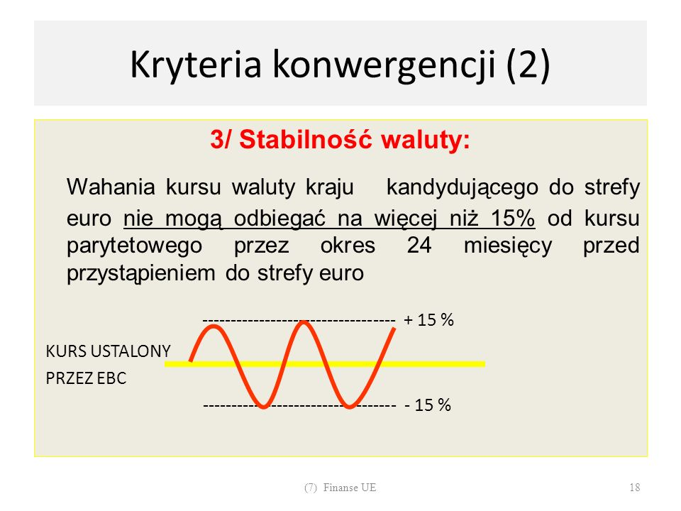 Kryteria konwergencji (2)