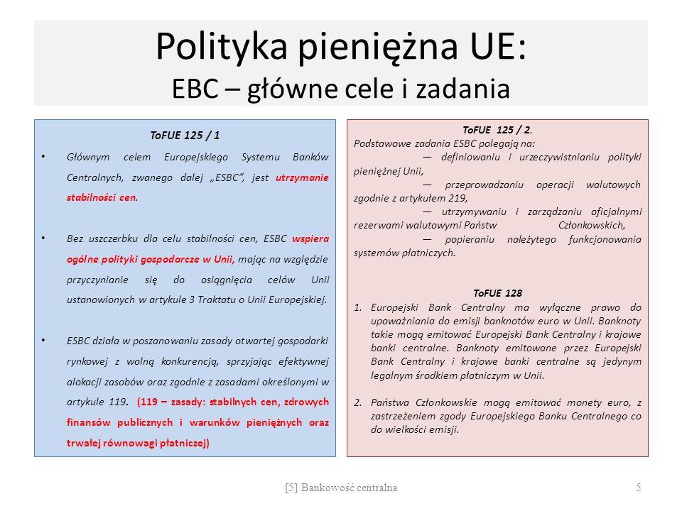 Polityka pieniężna UE: EBC – główne cele i zadania