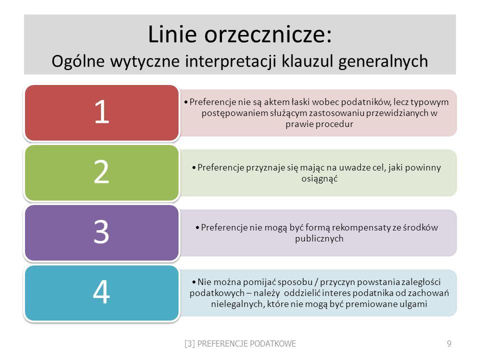 Linie orzecznicze: Ogólne wytyczne interpretacji klauzul generalnych
