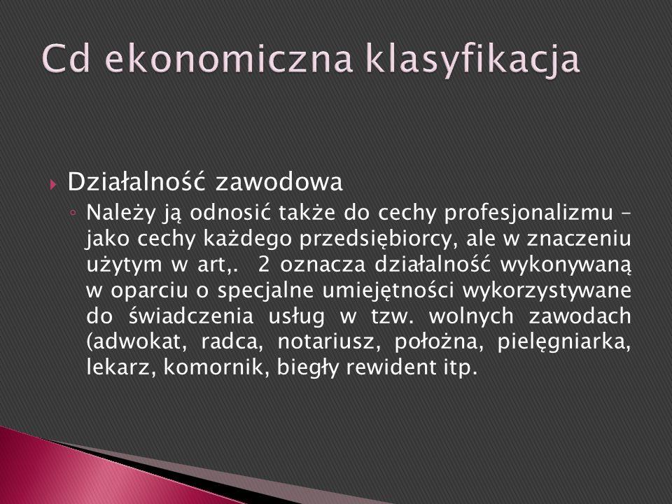 Cd ekonomiczna klasyfikacja