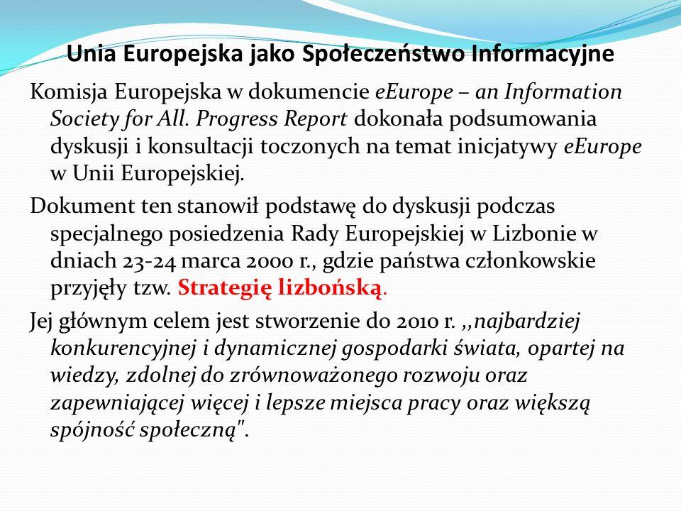 Unia Europejska jako Społeczeństwo Informacyjne