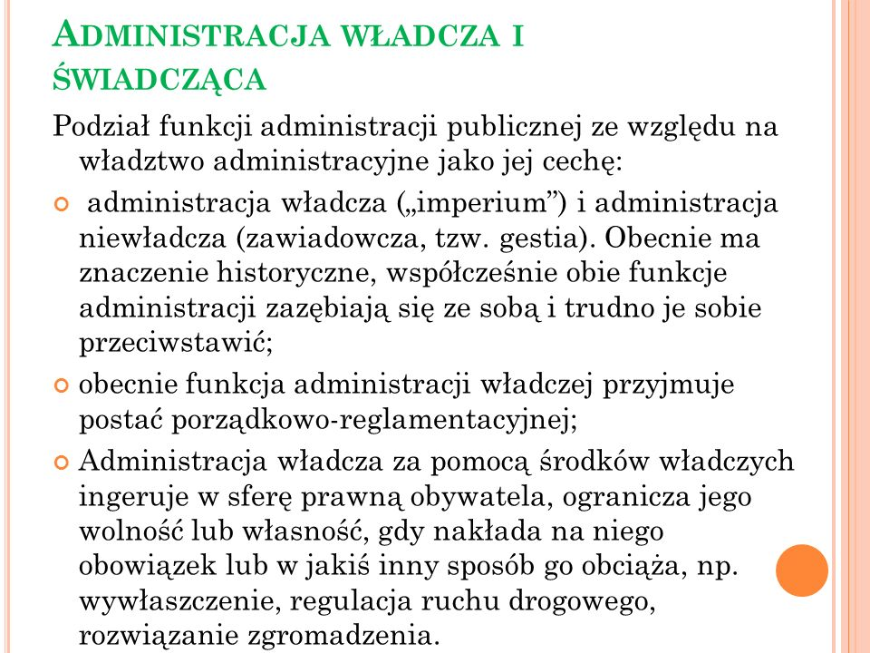 Administracja władcza i świadcząca