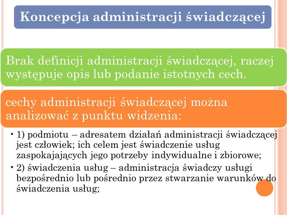 Koncepcja administracji świadczącej