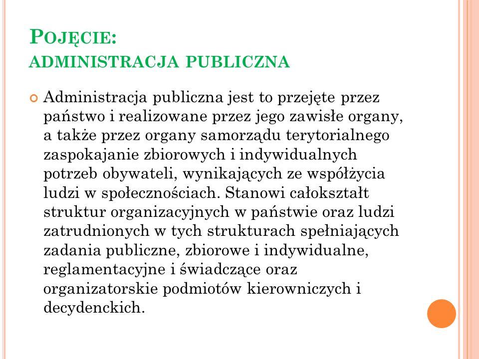 Pojęcie: administracja publiczna