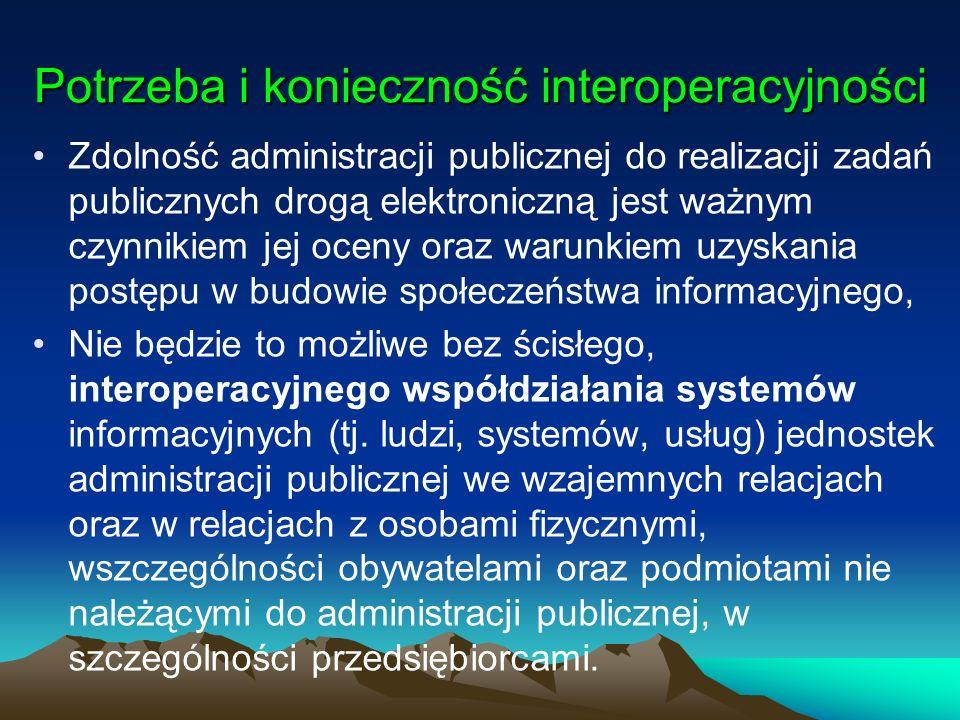 Potrzeba i konieczność interoperacyjności