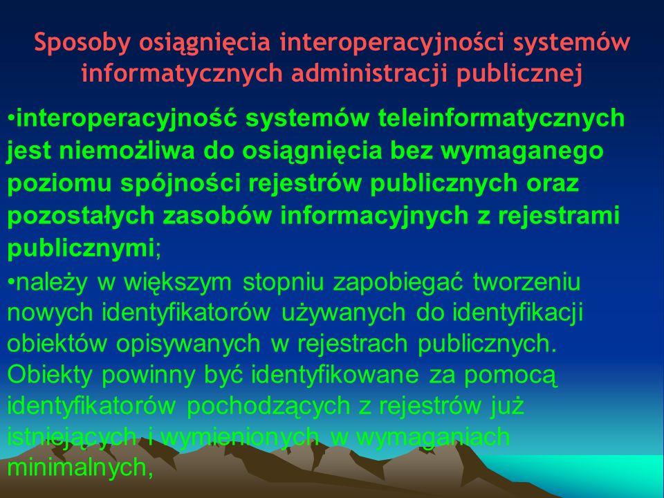 Sposoby osiągnięcia interoperacyjności systemów informatycznych administracji publicznej