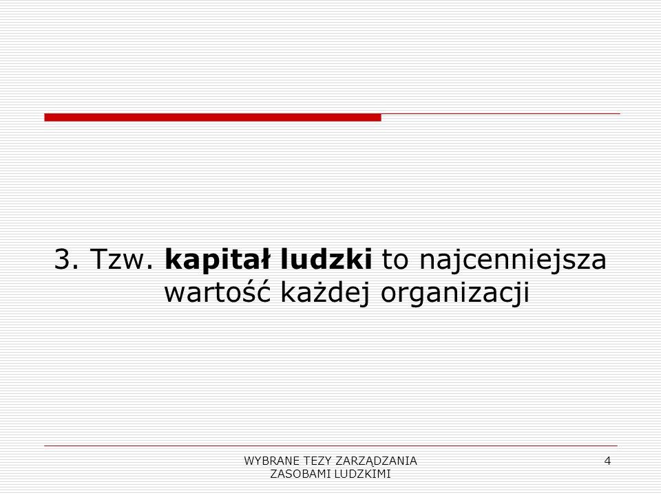 3. Tzw. kapitał ludzki to najcenniejsza wartość każdej organizacji