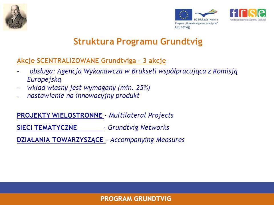 Struktura Programu Grundtvig