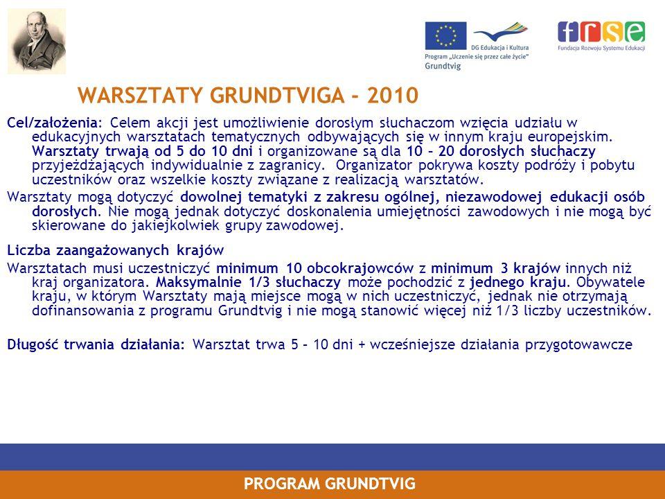 WARSZTATY GRUNDTVIGA - 2010