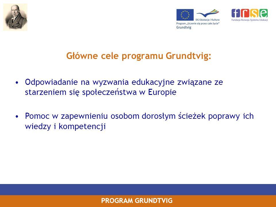 Główne cele programu Grundtvig: