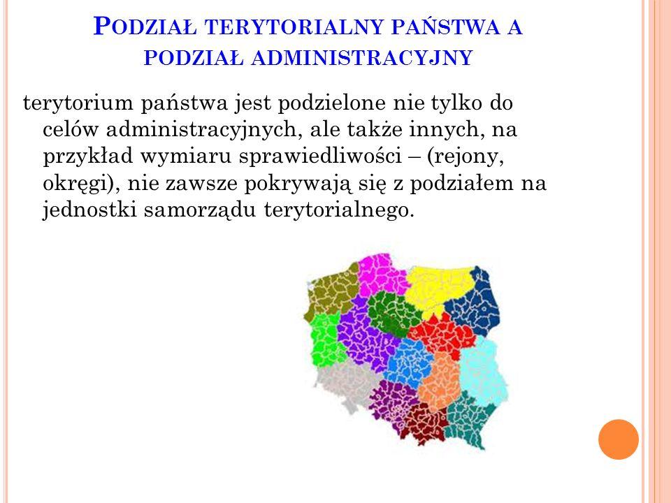 Podział terytorialny państwa a podział administracyjny