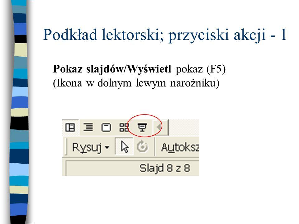 Podkład lektorski; przyciski akcji - 1