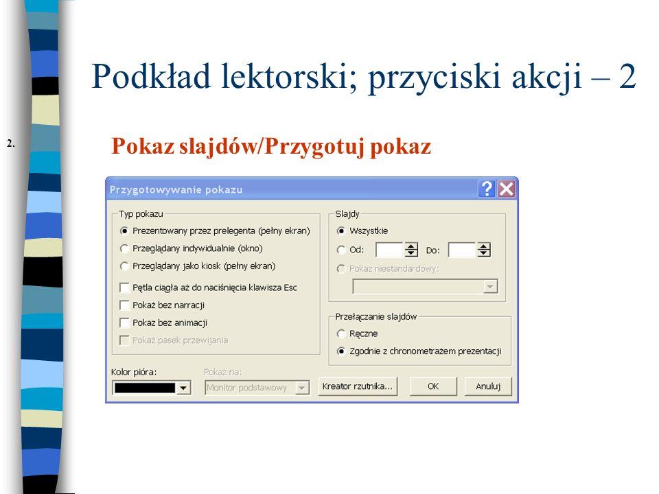 Podkład lektorski; przyciski akcji – 2