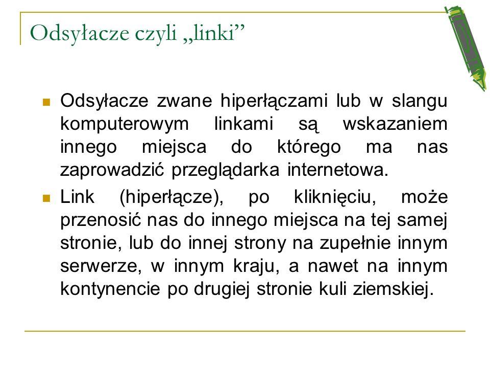 """Odsyłacze czyli """"linki"""