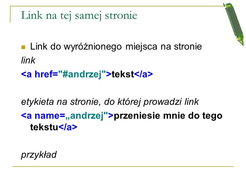 Link na tej samej stronie