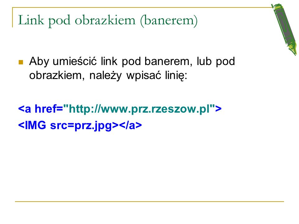 Link pod obrazkiem (banerem)