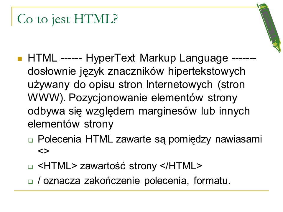 Co to jest HTML