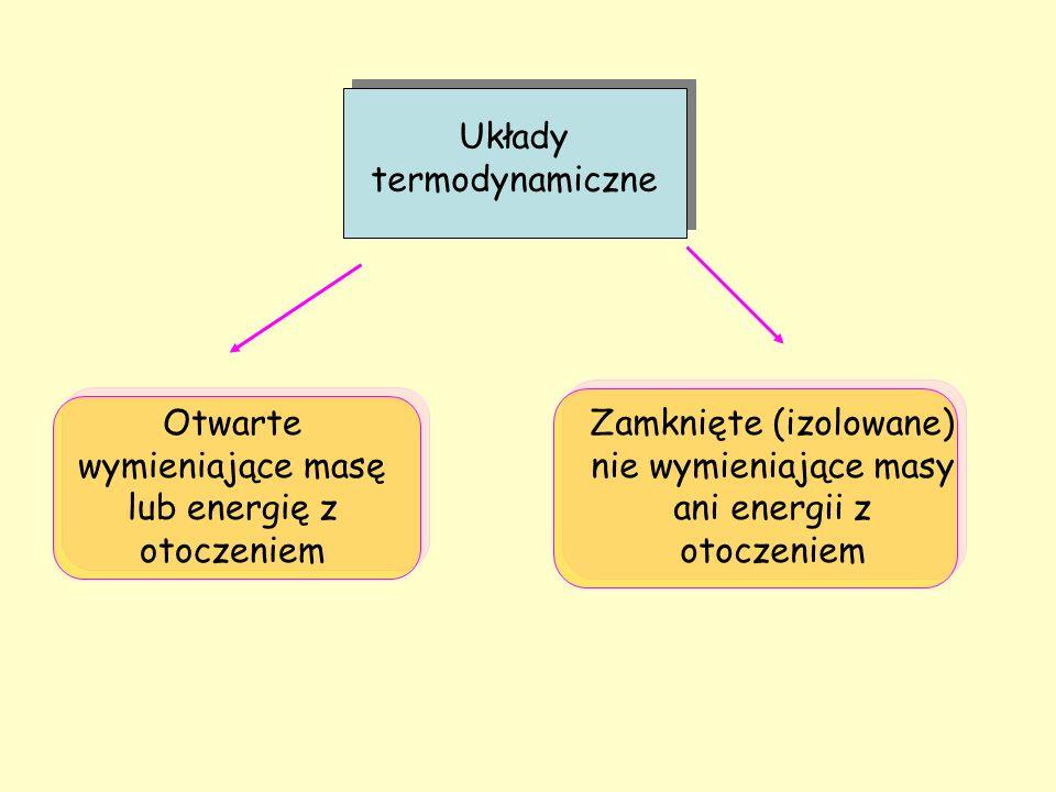 wymieniające masę lub energię z otoczeniem