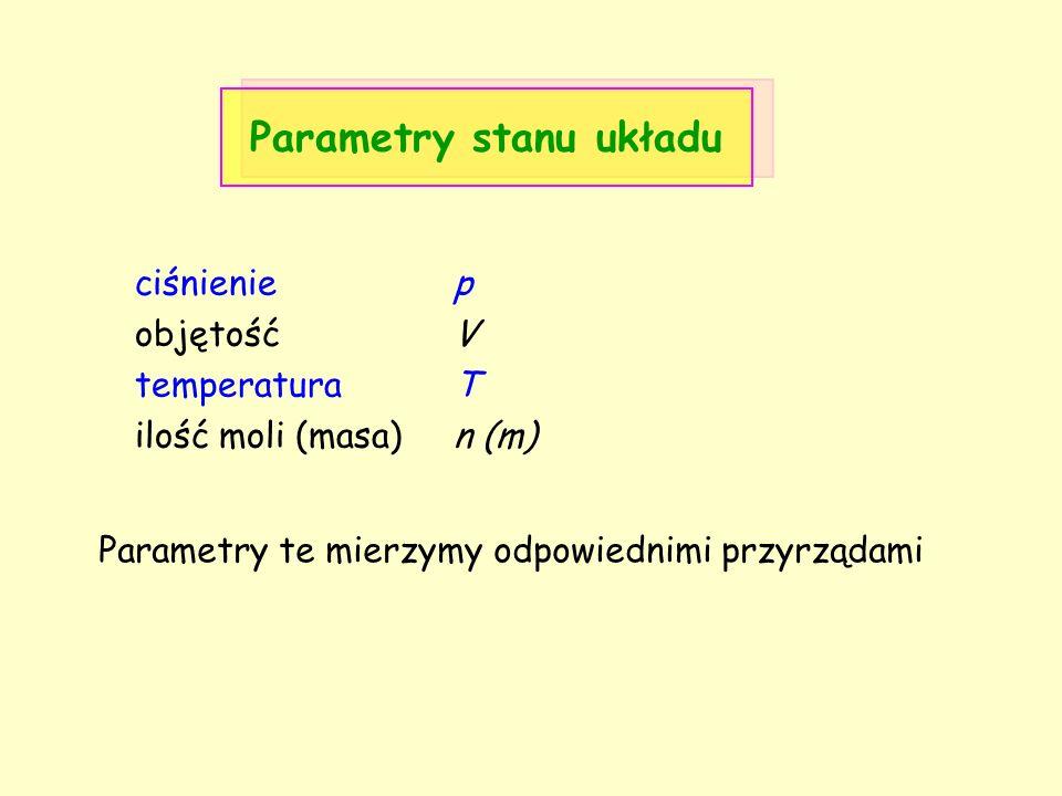 Parametry stanu układu