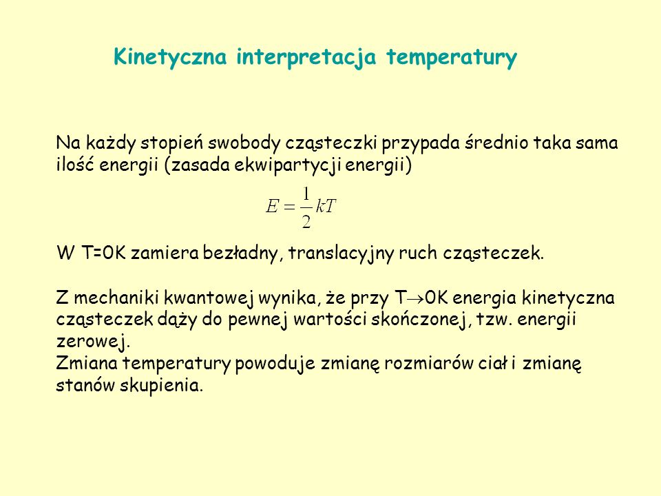 Kinetyczna interpretacja temperatury