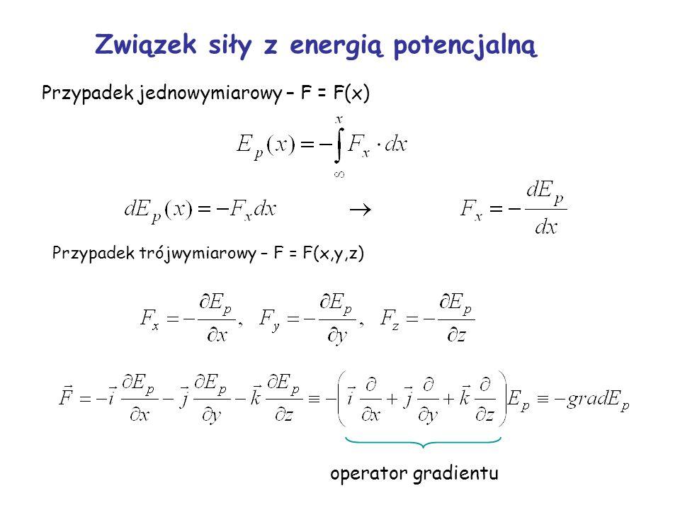Związek siły z energią potencjalną