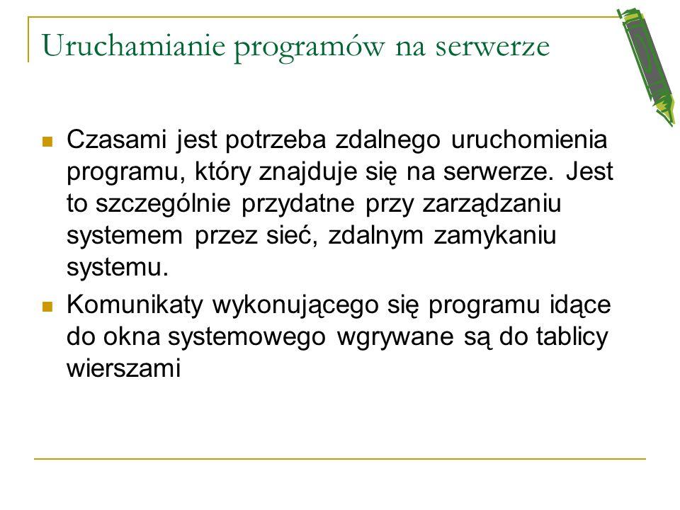 Uruchamianie programów na serwerze