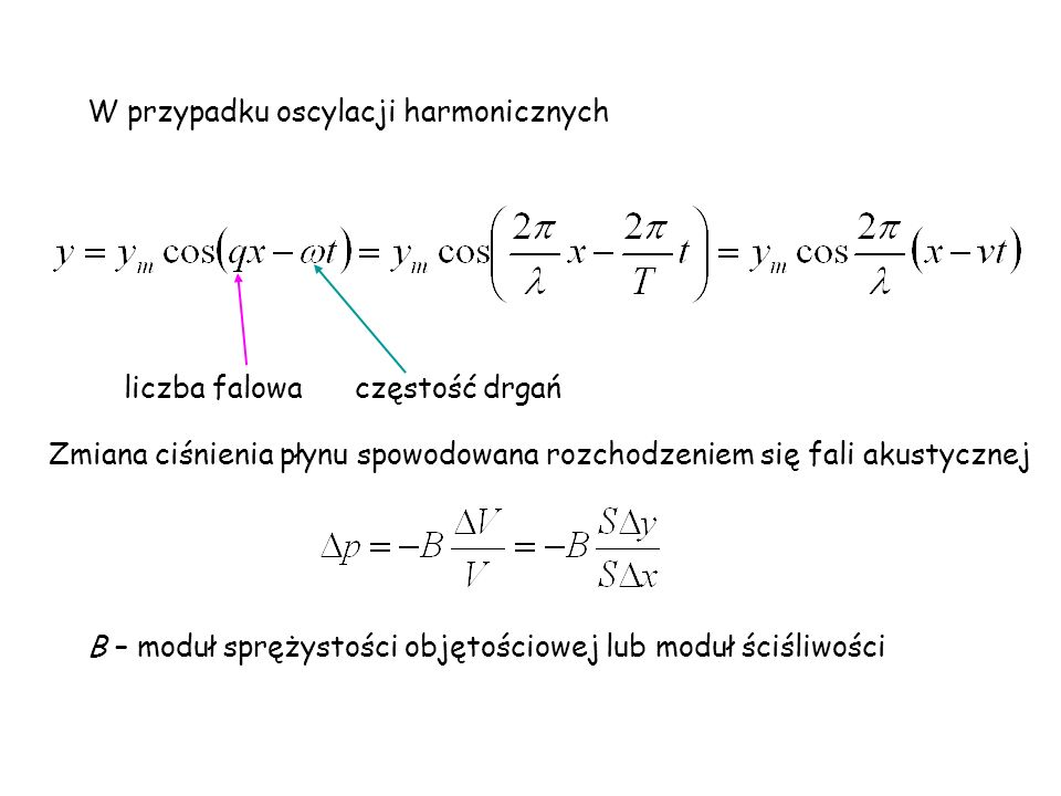 W przypadku oscylacji harmonicznych