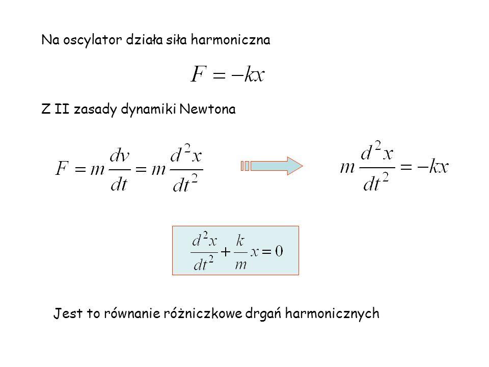 Na oscylator działa siła harmoniczna