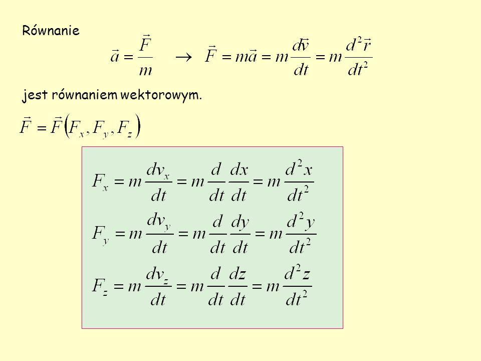 Równanie jest równaniem wektorowym.