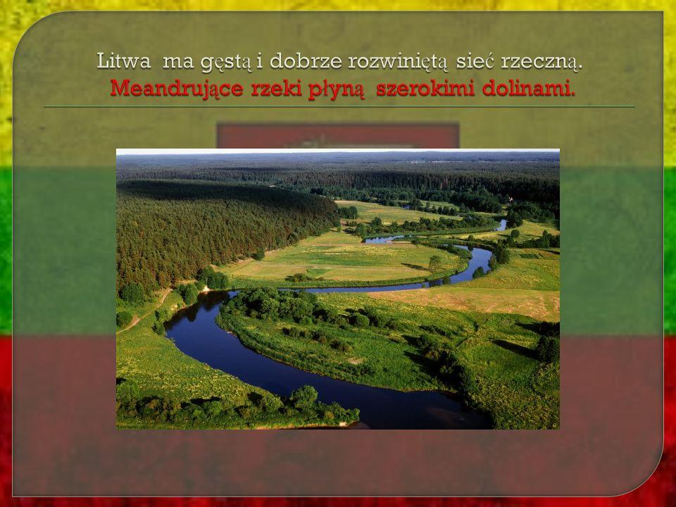 Litwa ma gęstą i dobrze rozwiniętą sieć rzeczną