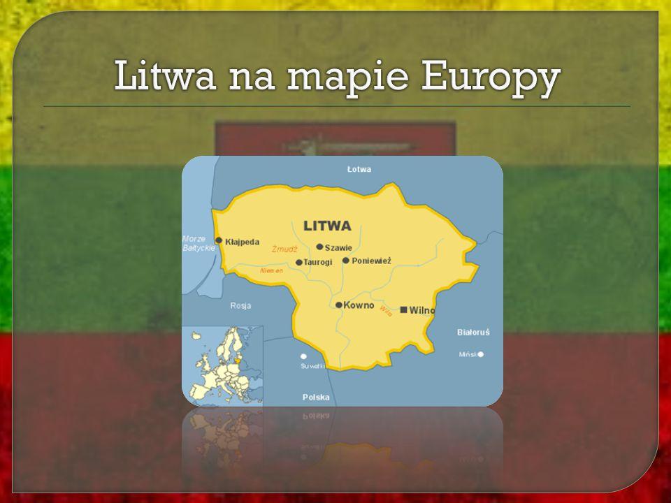 Litwa na mapie Europy