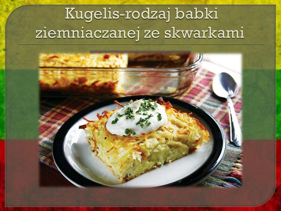 Kugelis-rodzaj babki ziemniaczanej ze skwarkami