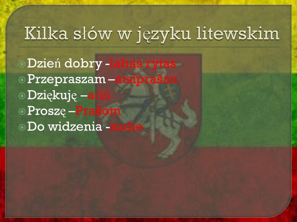 Kilka słów w języku litewskim