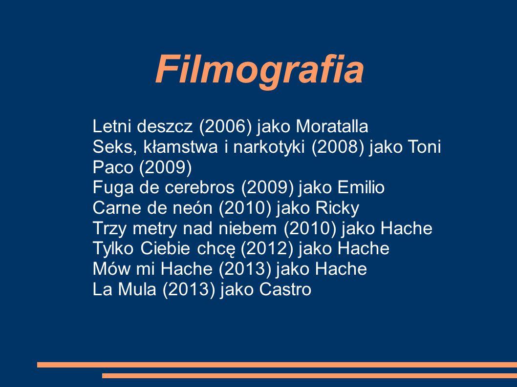 Filmografia Letni deszcz (2006) jako Moratalla