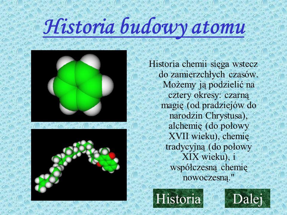 Historia budowy atomu Historia Dalej
