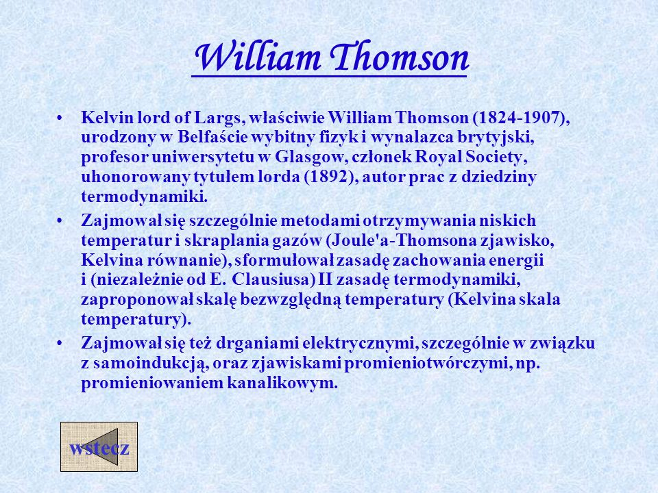 William Thomson wstecz