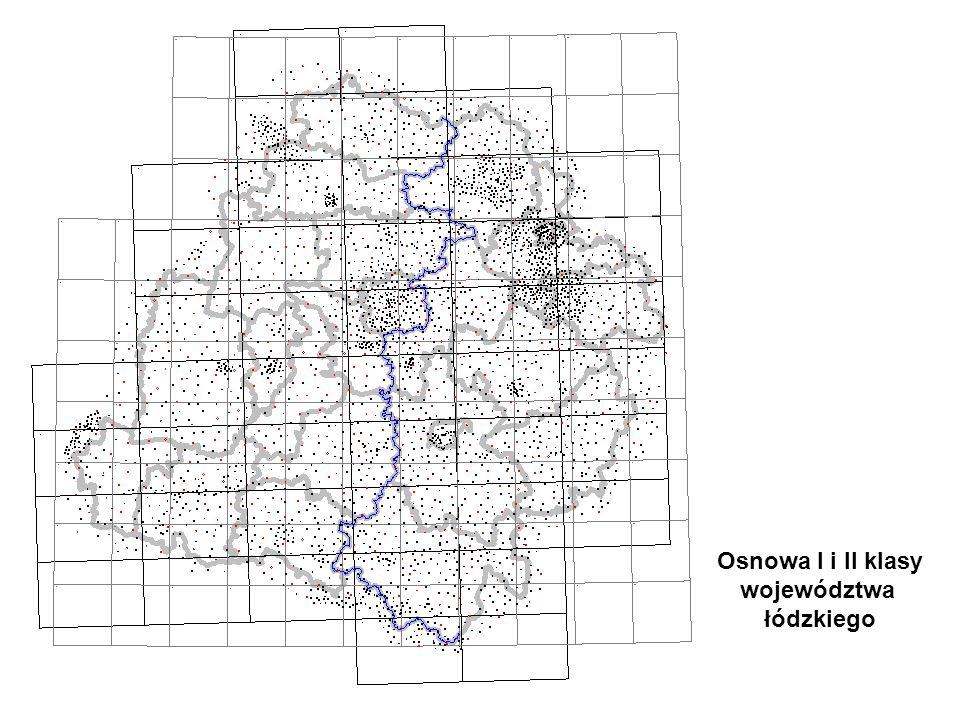 Osnowa I i II klasy województwa łódzkiego