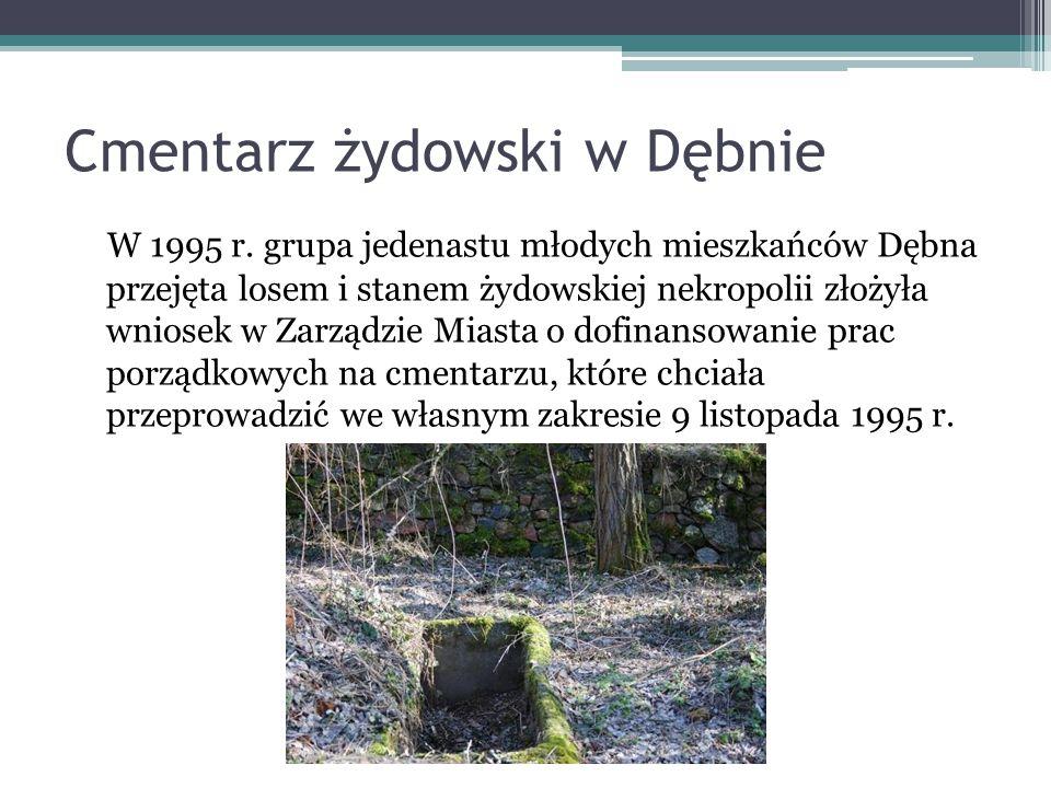 Cmentarz żydowski w Dębnie