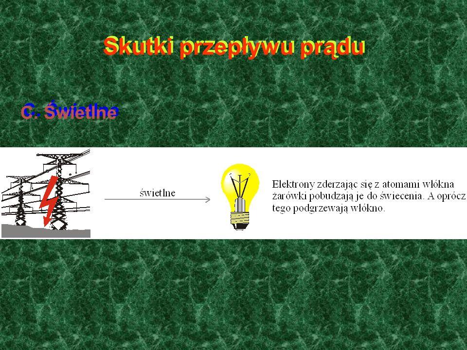 Skutki przepływu prądu
