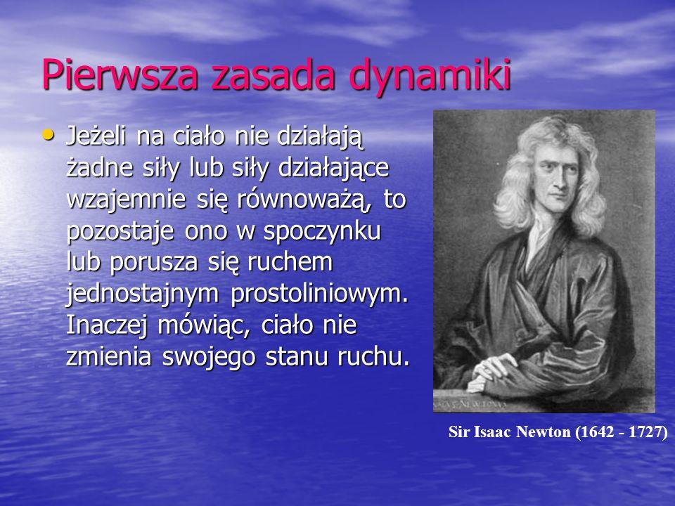 Pierwsza zasada dynamiki