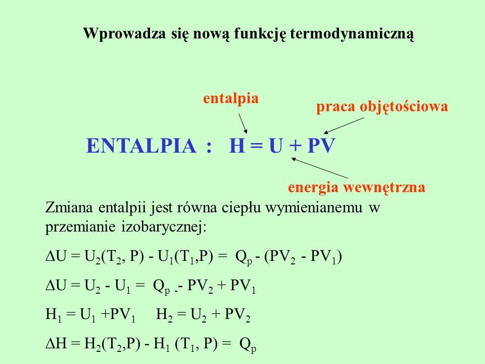 Wprowadza się nową funkcję termodynamiczną